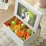 お花と一緒に写真を飾れるフォトフレーム★